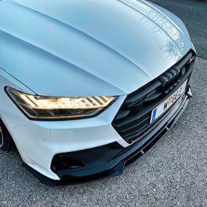 Front Diffusor / Front Splitter / Cup Schwert / Frontansatz für Audi A7 4K8 / A von X-UK