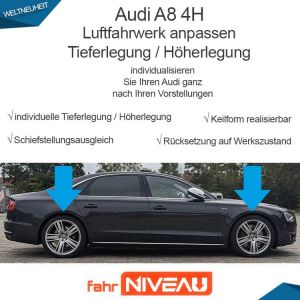 Audi A8 4H Luftfahrwerk (Audi Adaptive Air Suspension) tieferlegen