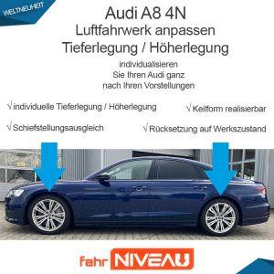 Audi A8 4N Luftfahrwerk (Audi Adaptive Air Suspension) tieferlegen