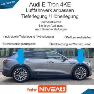 Audi E-Tron 4KE Luftfahrwerk (Audi Adaptive Air Suspension) tieferlegen