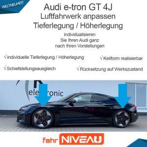 Audi e-tron GT 4J Luftfahrwerk tieferlegen elektronisch ohne Koppelstangen/Hardwareanpassung