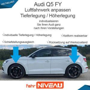 Audi Q5 FY Luftfahrwerk (Audi Adaptive Air Suspension) tieferlegen