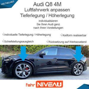 Audi Q8 4M Luftfahrwerk tieferlegen OBDAPP