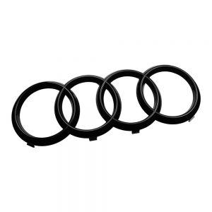 AUDI Ringe Vorne schwarz für Audi Q3 F3