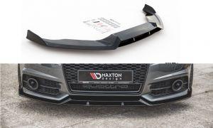 Front Diffusor / Front Splitter / Cup Schwert / Frontansatz für Audi S6 / A6 S-Line C7 FL von Maxton Design