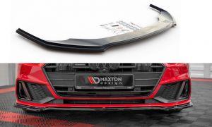Front Diffusor / Front Splitter / Cup Schwert / Frontansatz V.1 für Audi A7 C8 S-Line von Maxton Design