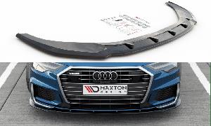 Front Diffusor / Front Splitter / Cup Schwert / Frontansatz V.2 für Audi A6 S-Line / S6 C8 von Maxton Design
