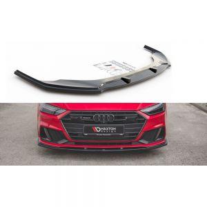 Front Diffusor / Front Splitter / Cup Schwert / Frontansatz V.2 für Audi A7 C8 S-Line von Maxton Design