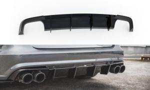 Hochwertiger, formschöner und passgenauer Heck Diffusor für Audi A6 S-Line C7 FL von Maxton Design