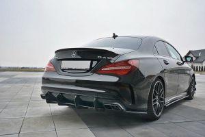 Heck Diffusor Erweiterung für Mercedes CLA A45 AMG C117 Facelift von Maxton Design
