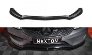 Front Diffusor / Front Splitter / Cup Schwert / Frontansatz V.1 für Mercedes Benz C-Klasse W205 AMG-Line von Maxton Design