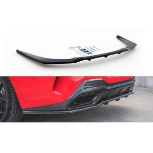 Heck Diffusor Erweiterung mit vertikalem Balken für BMW 8er M850i G15 von Maxton Design