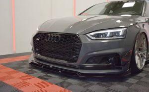 Front Diffusor / Front Splitter / Cup Schwert / Frontansatz für Audi S5 5F Coupe Sportback S-Line2016 - von Maxton Design
