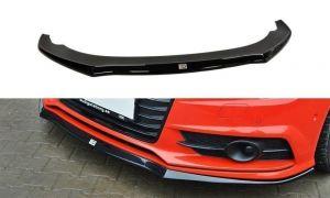 Front Diffusor / Front Splitter / Cup Schwert / Frontansatz für Audi S7 / A7 S-Line C7 FL von Maxton Design