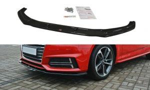 Front Diffusor / Front Splitter / Cup Schwert / Frontansatz V.2  für Audi S4 / A4 S-Line B9 von Maxton Design