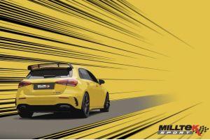 Mercedes A-Klasse W177 A45 & A45S AMG 2.0 Turbo Downpipe und Hi-Flow Sport Kat von Milltek Sport