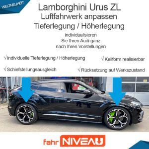 Lamborghini Urus ZL Luftfahrwerk tieferlegen OBDAPP