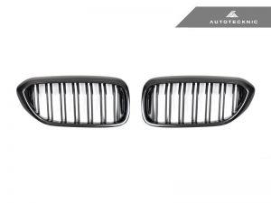 AutoTecknic Ersatzkühlergrill Doppellamellen Carbon für G30 5er