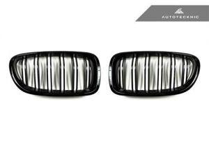 AutoTecknic Glazing Black Doppellamellen Kühlergrill für F10