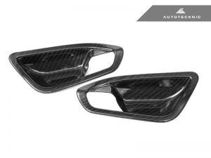AutoTecknic Carbon Innentürgriffabdeckungen - F20 1-Serie / F22 2-Serie / F87 M2 - glänzend mit Lichtpaket
