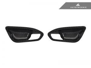 Autotecknic Trockencarbon Innentürgriff-Verkleidung für BMW 1er / 2er F20 / F22 / F87 M2 ohne Lichtpaket matt