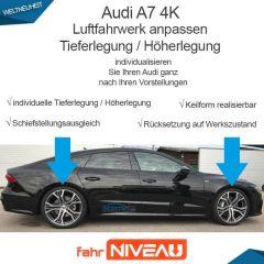 Audi A7 4K Luftfahrwerk tieferlegen OBDAPP