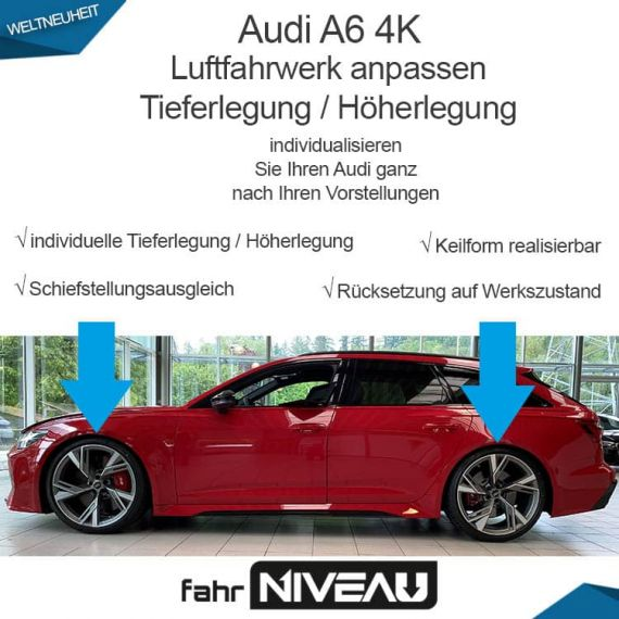 Audi RS6 C8 4K Luftfahrwerk tieferlegen OBDAPP